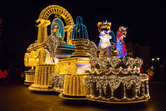 SEOUL, KOREA - DECEMBER 21,2014: A beautiful parade at night. Stock Image