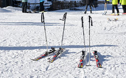 Seoul, KOREA - 28. Januar 2017: Ski auf dem Schnee Lizenzfreie Stockfotografie