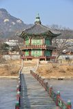 SEOUL, KOREA - JANUARY 06, 2014: Hyangwonjeong in Gyeongbok palace in Seoul, Korea stock images