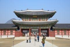 SEOUL, KOREA - JANUARY 06, 2014: View of Heungnyemun in Gyeongbok palace, Korea royalty free stock photo