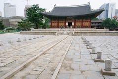 SEOUL, KOREA - 7. JULI 2007: Junghwajeon an Deoksugungs-Palast herein Lizenzfreie Stockfotos