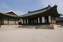Seoul, Korea-May 17, 2017: Gyeongbokgung Palace Building Royalty Free Stock Photography