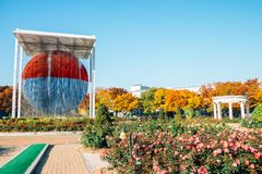 Olympic park rose square at autumn in Seoul, Korea. Seoul, Korea - November 2, 2018 : Olympic park rose square at autumn stock photography