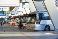Seoul Korea - September 18, 2015: Terminal Seoul för uttrycklig buss Royaltyfria Foton