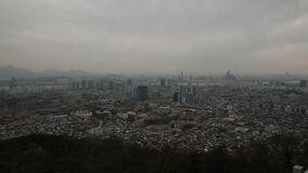 Seoul Korea Skyline Cloudy Day