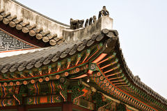 Seoul, Korean traditional architecture, asian roof Stock Photo