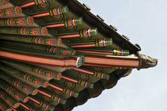 Seoul, Korean traditional architecture, sky, asian roof Royalty Free Stock Images