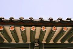 Seoul koreansk traditionell arkitektur, asiatiskt tak Royaltyfri Fotografi