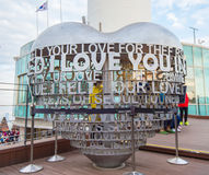 SEOUL - 28. MÄRZ: Liebesvorhängeschlösser an Turm N Seoul Lizenzfreies Stockbild