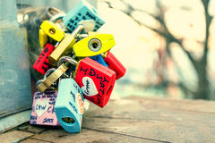 SEOUL - MARCH 28 : Love padlocks at N Seoul Tower. Stock Image
