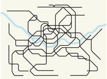 Seoul metropolitan subway map Royalty Free Stock Photography