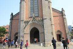Seoul Myeongdong Cathedral Stock Photo