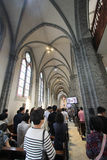 Seoul Myeongdong Cathedral. Myeongdong Cathedral is a prominent Roman Catholic church in the Myeongdong district of Seoul, South Korea, and the seat of the Stock Images