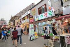 Seoul Myeongdong gata i Sydkorea Royaltyfri Foto