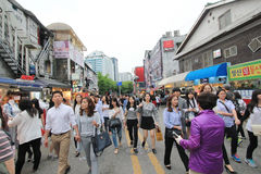 Seoul Myeongdong street in South Korea Royalty Free Stock Images