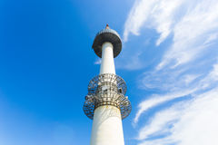 Seoul N Namsan Tower Base Low Angle View Up H Royalty Free Stock Photo