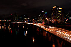 Seoul na noite foto de stock royalty free