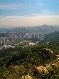 Seoul na poluição atmosférica Foto de Stock