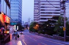 Seoul nel tramonto 2 Fotografia Stock