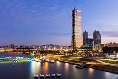 Seoul at night Stock Photo
