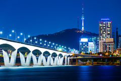Seoul night Royalty Free Stock Images