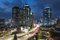 Seoul night rush Stock Images