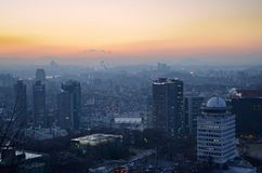 Seoul night, South Korea, 12-19-2012: Cityscape at N Seoul Tower, Seoul, South Korea Stock Photos