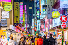 Seoul Nightlife Royalty Free Stock Photography