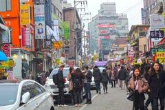 SEOUL - November 26,2013: Street view of Nam Dae Mun Market, cro Stock Photos