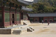 SEOUL - 21. OKTOBER 2016: Deoksugungs-Palast in Seoul, Süd-Kore Stockfotos