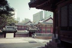 SEOUL - 21. OKTOBER 2016: Deoksugungs-Palast in Seoul, Süd-Kore Lizenzfreie Stockbilder