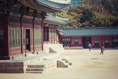SEOUL - 21. OKTOBER 2016: Deoksugungs-Palast in Seoul, Süd-Kore Stockfotografie