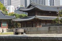 SEOUL - 21. OKTOBER 2016: Deoksugungs-Palast in Seoul, Süd-Kore Lizenzfreies Stockfoto