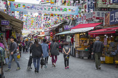 SEOUL - 21 OTTOBRE 2016: Mercato di Namdaemun a Seoul Namdaemun m. Immagini Stock Libere da Diritti
