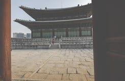 SEOUL - 21 OTTOBRE 2016: Palazzo di Gyeongbokgung a Seoul, Corea Immagini Stock Libere da Diritti