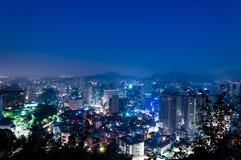Seoul på gryning Arkivfoton