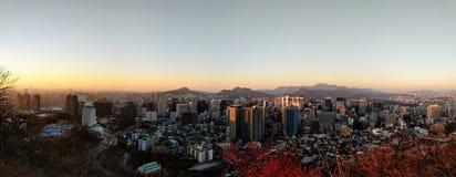 Seoul på solnedgången Royaltyfri Fotografi