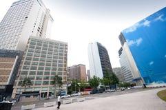 Seoul plaza. Panoramic image of Seoul plaza, South Korea Royalty Free Stock Photos