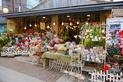 Seoul, Südkorea - 16. Dezember 2015: Blumenladen in der Einkaufszone in Korea Lizenzfreie Stockfotografie