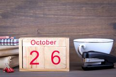 Seoul 2012 Südkorea hölzerner Kalender der Nahaufnahme Zeitplanung und Geschäftshintergrund Stockbild