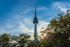 SEOUL, SÜDKOREA - 5. MAI 2018: Der Turm N Seoul oder Namsan-Turm Stockfotografie