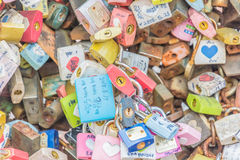 SEOUL, SÜDKOREA - 29. Oktober: Die Liebes-Schlüssel-Zeremonie an N Seo Lizenzfreies Stockfoto