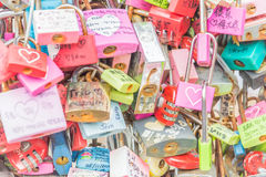 SEOUL, SÜDKOREA - 29. Oktober: Die Liebes-Schlüssel-Zeremonie an N Seo Stockfotos
