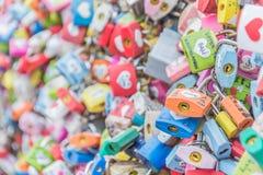 SEOUL, SÜDKOREA - 29. Oktober: Die Liebes-Schlüssel-Zeremonie an N Seo Stockbilder