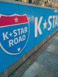 Seoul`s K-Star Road! royalty free stock image