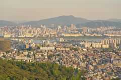 Seoul. SOUTH KOREA - CIRCA MAY, 2017:  city view from Namsan Mountain at daytime.  Special City is the capital and largest metropolis of the Republic of Korea Stock Photos
