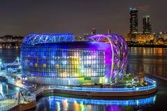 SEOUL - SEPTEMBER 13: Färgrikt av Seoul som svävar ön Royaltyfri Foto