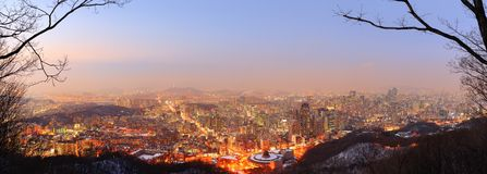 Seoul Skyline Royalty Free Stock Images