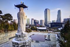 Seoul Skyline Royalty Free Stock Photos