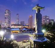 Seoul Skyline Royalty Free Stock Photos